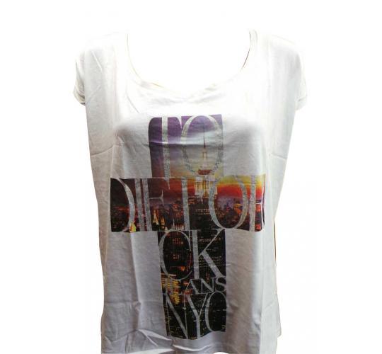 Joblot of 10 Calvin Klein T Shirts Ladies White Cross Design Various Sizes