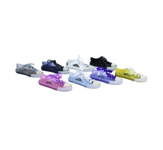Laceup Jelly Trainers 96 pairs in mixed colours and sizes
