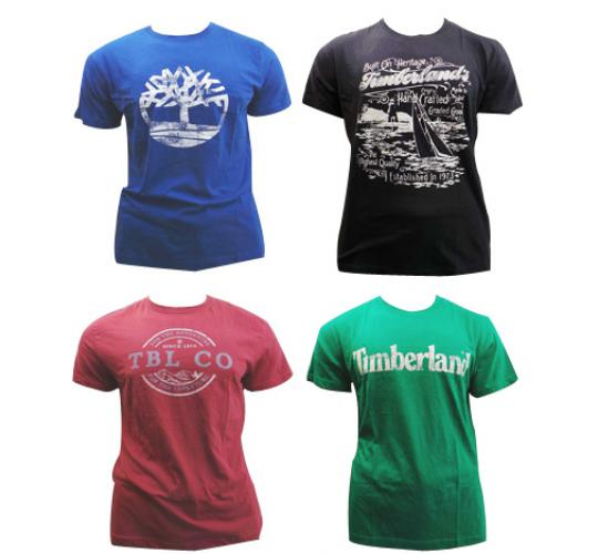 Joblot of 10 Timberland T Shirts Mens 8 Designs Various Sizes & Colours