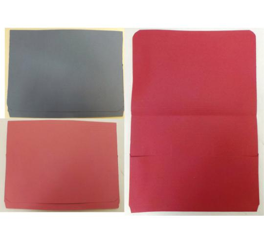 One Off Joblot Of 300 Full flap Red, Blue & Pink Documents Wallets JT34508