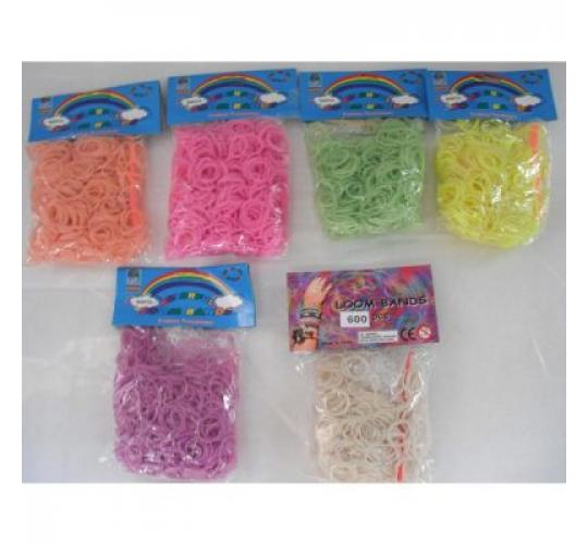 600 Loom Bands refill pack assorted colours