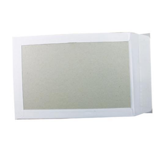 One Off Joblot Of 500 Board Back Pocket Envelopes C4 White KF3525