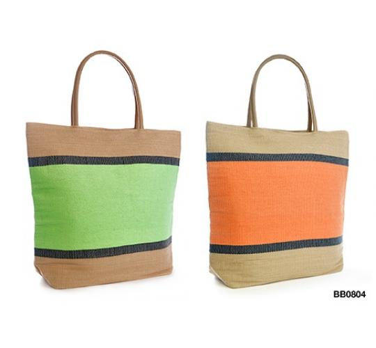 Parcel Clearance 48 fashion 2 colour block Beach/Tote bags -BB0804