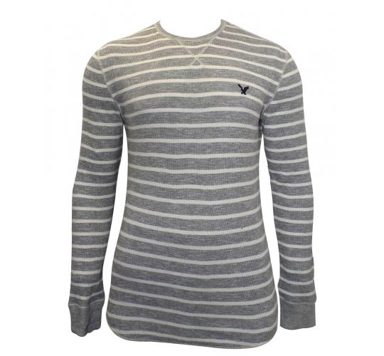 Joblot of 10 American Eagle Long Sleeved Shirts Mens Grey & Cream Various Sizes