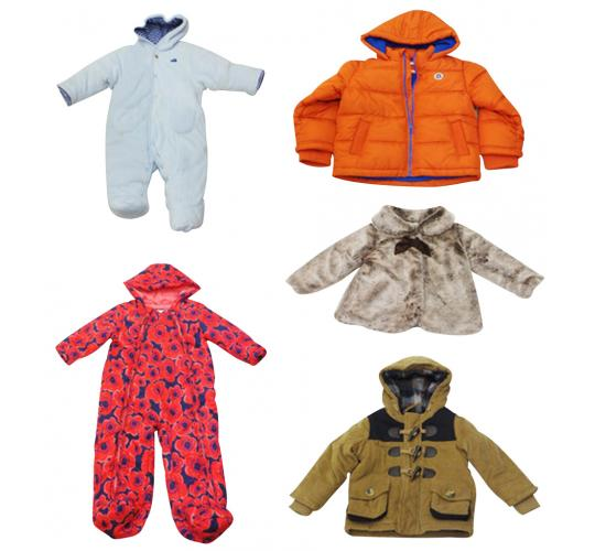 One Off Lot of 11 Assorted Coats & All-In-Ones Kids Various Gender/Style/Sizes