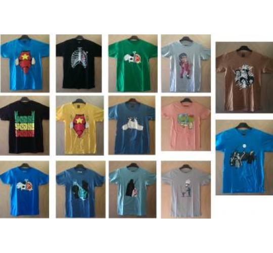 Wholesale Joblot of 1,000 Mixed Print Screen T-Shirt