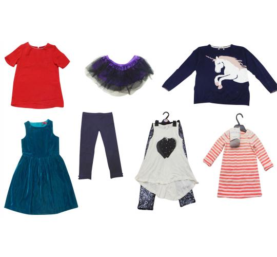 One Off Lot of 39 Assorted Clothing Items Girls Kids Skirts Tops Dresses etc.