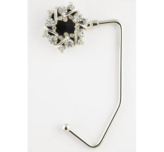 Silver Flower Ring Handbag Hangers