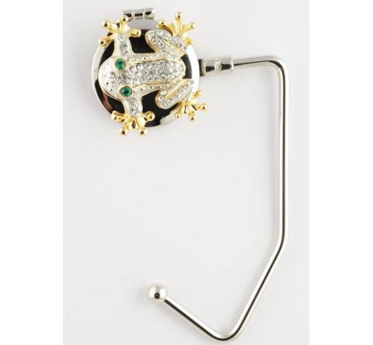 Silver Frog Handbag Hanger