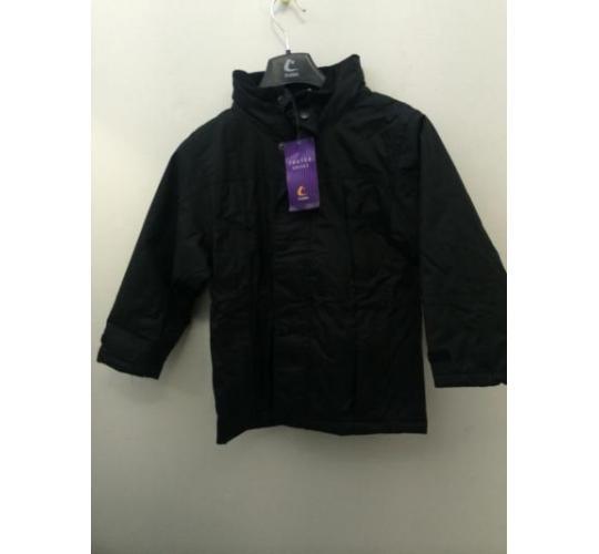 Navy and black finland fleece lined coat