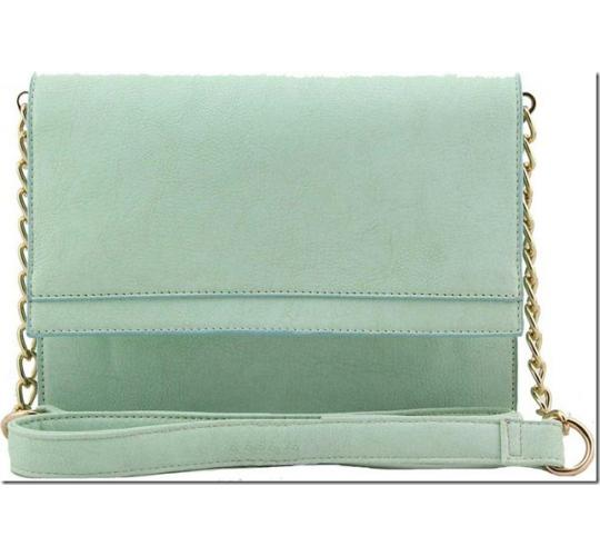 Clearance Parcel Of 20 Ladies Clutch/Shoulder Pastel Green Bag-S42