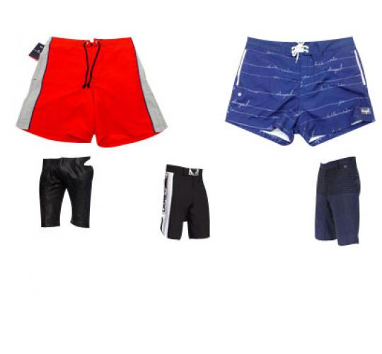 One Off Lot of 14 Pairs of Mens Shorts Various Brands Styles Sizes etc.