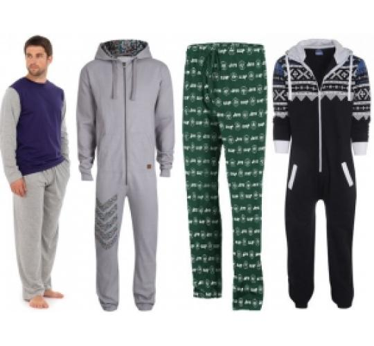 One Off Joblot Of 13 Assorted Mens Pyjama Sets, Onsies, Tops And Bottoms