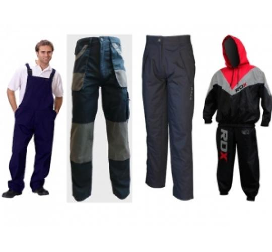One Off Joblot Of 13 Mens Work Wear Including Overalls, Cargos & Waterproofs
