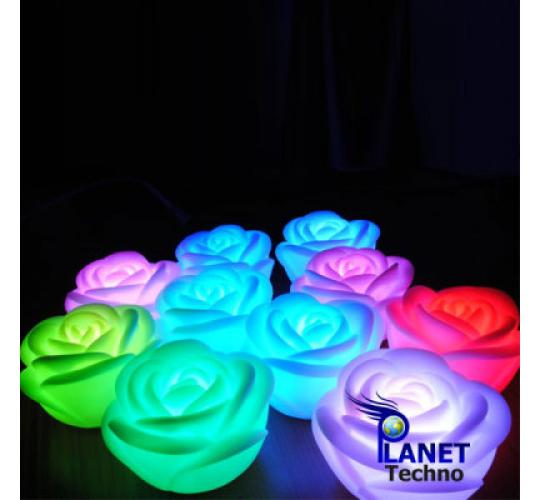 BATTERY POWERED ROSE SHAPED LAMP LIGHTS