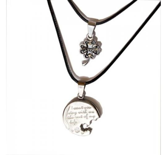 Joblot of 19 lines Assorted Metal Double Pendant Set Necklaces