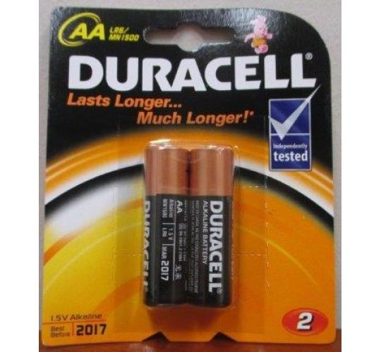Wholesale Job Lot Of 120 Packs Of 2 AA Duracell Batteries