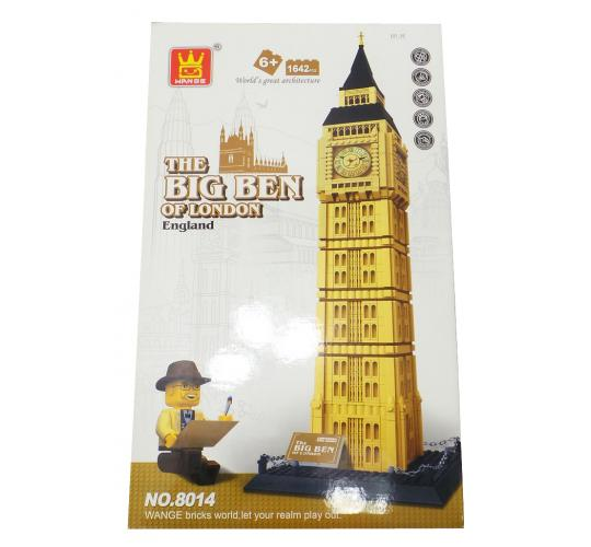 Joblot of 5 Wange Building Brick Sets Big Ben Monument Themed Childrens 8014