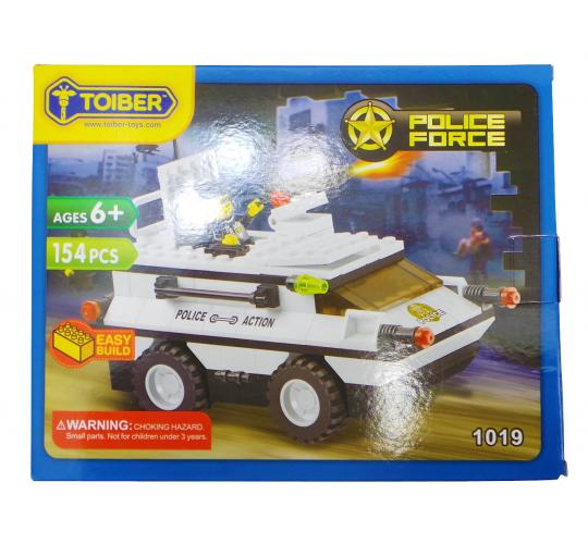 Joblot of 12 Toiber Building Brick Sets 'Police Force' Themed Childrens 1019