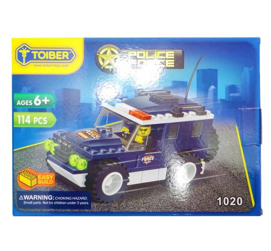 Joblot of 20 Toiber Building Brick Sets 'Police Force' Themed Childrens 1020