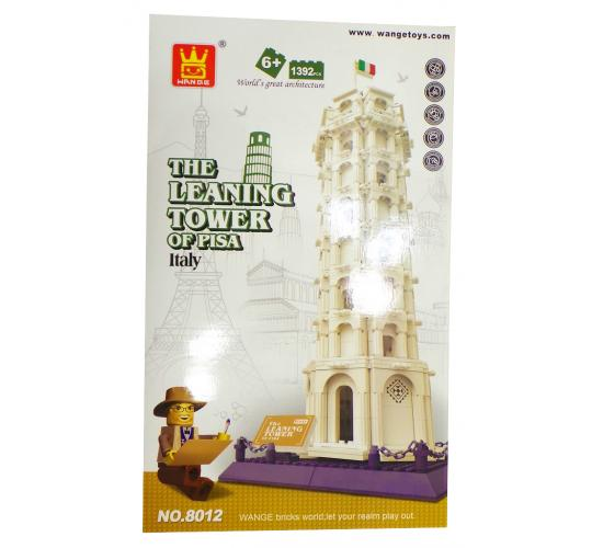 One Off Lot of 4 Wange 'Leaning Tower of Pisa' Themed Building Brick Sets 8012