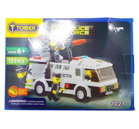 Joblot of 10 Toiber Building Brick Sets 'Police Force' Themed Childrens 1021