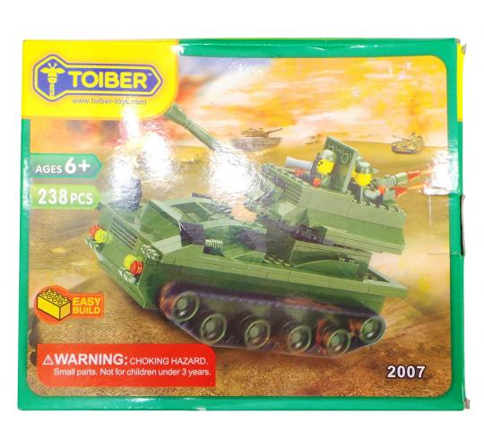 Joblot of 10 Toiber Building Brick Sets Military Tank Themed Childrens 2007