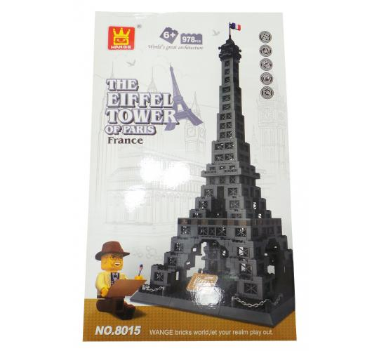 One Off Lot of 11 Wange Eiffel Tower Themed Kids Building Brick Sets 8015