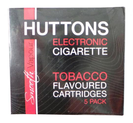 Joblot of 50 Huttons Low Nicotine Tobacco Flavour E-Cigarette Cartridge 5pks