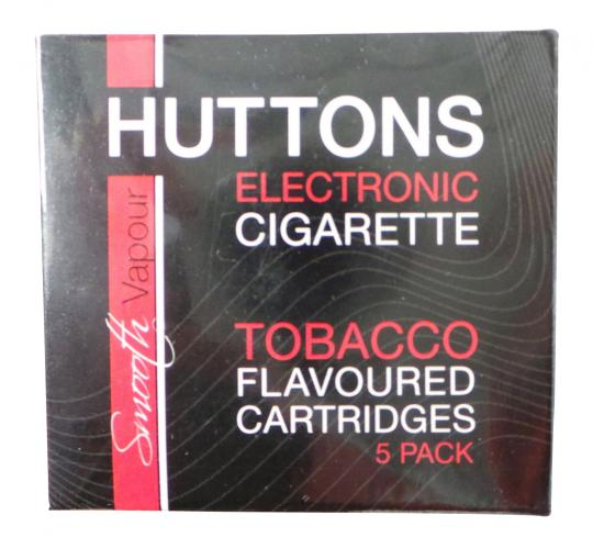 Joblot of 50 Huttons Medium Nicotine Tobacco Flavour E-Cigarette Cartridge 5pks