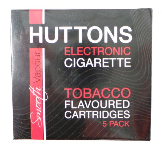 Joblot of 50 Huttons No Nicotine Tobacco Flavour E-Cigarette Cartridge 5pks