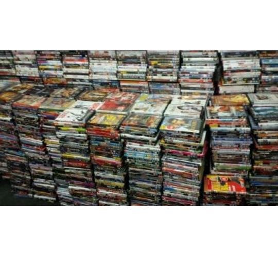 Box Of 50 Mixed Dvds Used