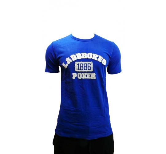 Wholesale Joblot Of 10 Mens Ladbrokes Poker Blue T-shirts