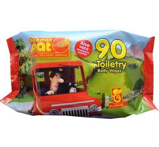 Clearance Parcel Of 120 Children's Postman Pat 90 Pack Wipes  Flushable