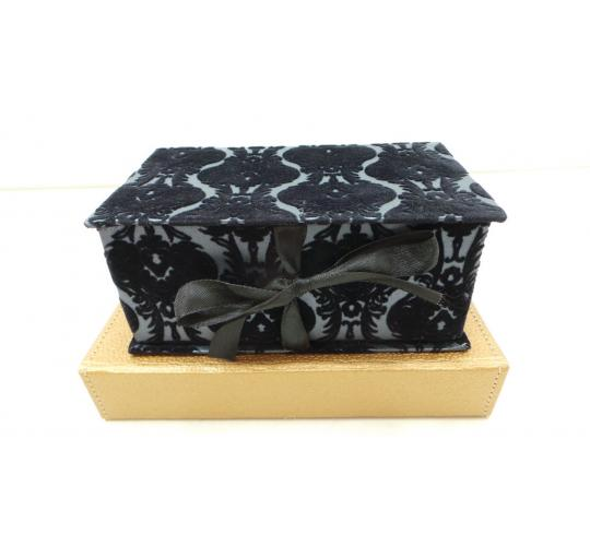 One Off Joblot Of 25 Jewellery Boxes In 2 Styles Leather Look & Jacquard Velvet