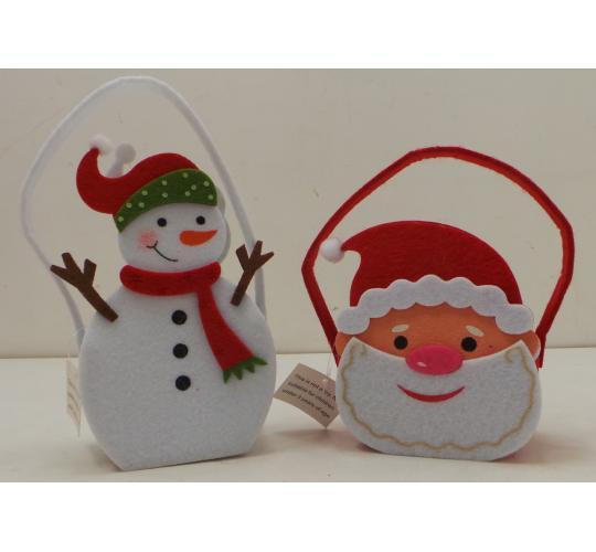 One Off Joblot Of 126 Santa And Snowman Felt Christmas Treat Bags