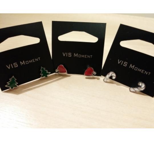 VIS Moment, 37x Fiji - Christmas Tree Santa Earrings, Red Seashell Heart Chain Charm, RRP: £325