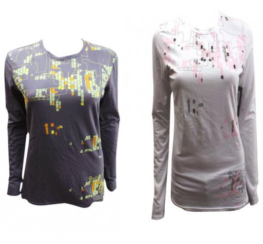 One Off Joblot Of 12 Ladies Oakley Long Sleeved Pixel Cameo T-shirts