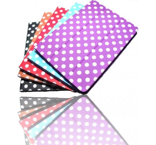 100 x iPad Air stylish case with polka dots, PU leather case cover