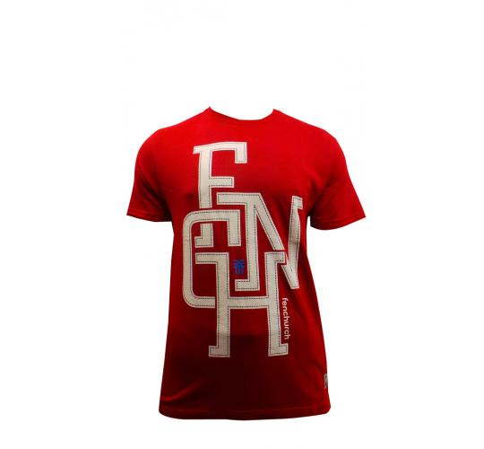 Wholesale Joblot Of 10 Mens Fenchurch Red Lock Up Jersey T-shirts