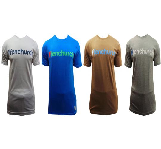 Wholesale Joblot Of 10 Mens Fenchurch Wordy Crew Neck T-Shirts