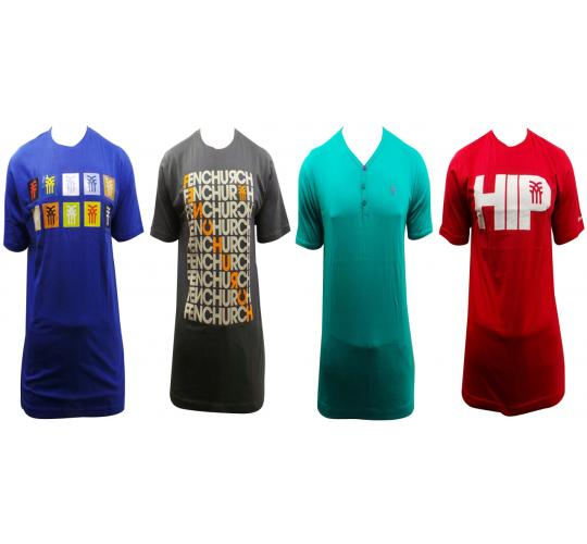 Wholesale Joblot Of 10 Mens Fenchurch Short Sleeved T-shirt Design Mix