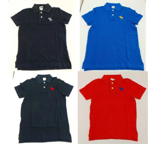 Wholesale Joblot Of 10 Childrens Designer Branded Plain/Striped Polo Shirts