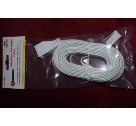 10M TELEPHONE EXTENSION CABLES BT/VIRGIN/SKY/TALKTALK/PLUSNET