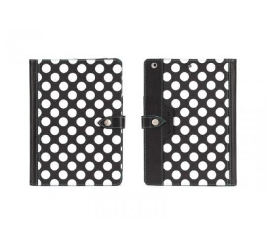 25 x Griffin Back Bay Polka Dot Folio Case Cover for iPad Air Black/White GB37900