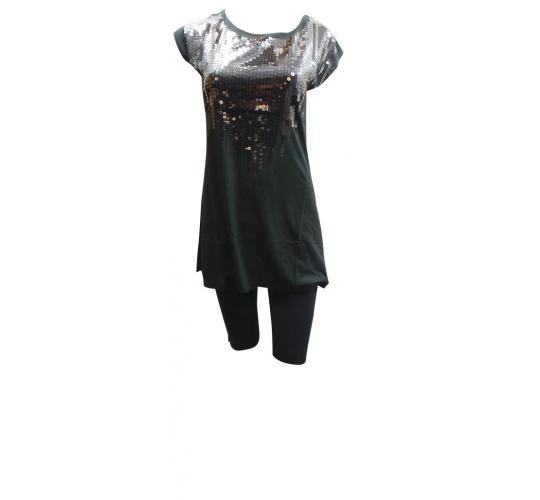 One Off Joblot of 14 Ladies Tg Black Long Sequin Tops All Size 12