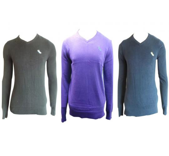 One Off Joblot of 10 Mens Light Weight Tg V-neck Jumpers Mix of Colours