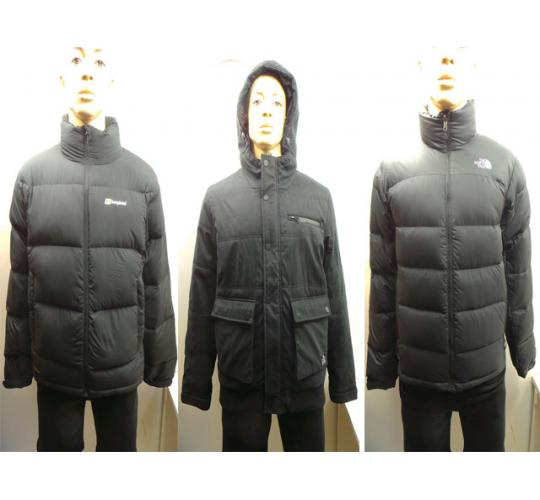 One Off Joblot of 4 Mens Puff Padded Coats North Face Berghaus Jack and Jones