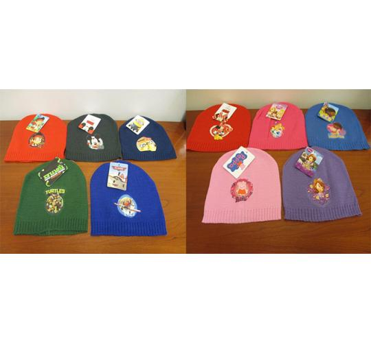 Clearance of 100  Boys and Girls Winter Character Hats