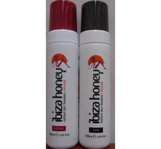 36 x Ibiza Honey Instant Self Tanning Mousse 200ml in 2 shades, Medium & Dark